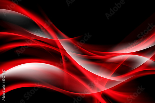Fototapeta Creative Art Red Light Fractal Waves Abstract Background obraz