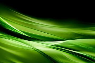 Creative Green Light Waves Art  Background