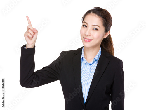 Asian Businesswoman with finger point up Canvas-taulu