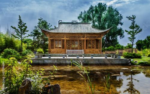 Chinesischer Garten Buy This Stock Photo And Explore Similar
