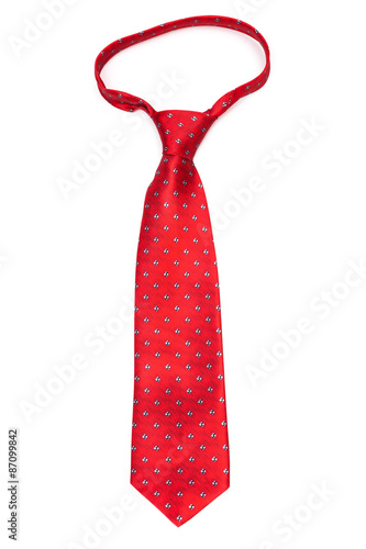 Fotografie, Obraz  red tie on white background