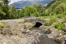 Ashness Bridge In Borrowdale. English Lake District. Cumbria. England. UK