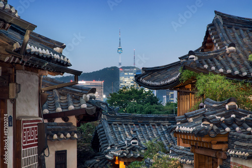 Photo sur Aluminium Seoul Bukchon Hanok Village in Seoul
