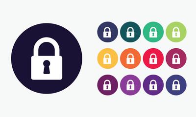 Lock sign icon. Padlock color symbol.