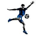 Fototapeta Sport - italian soccer player man silhouette