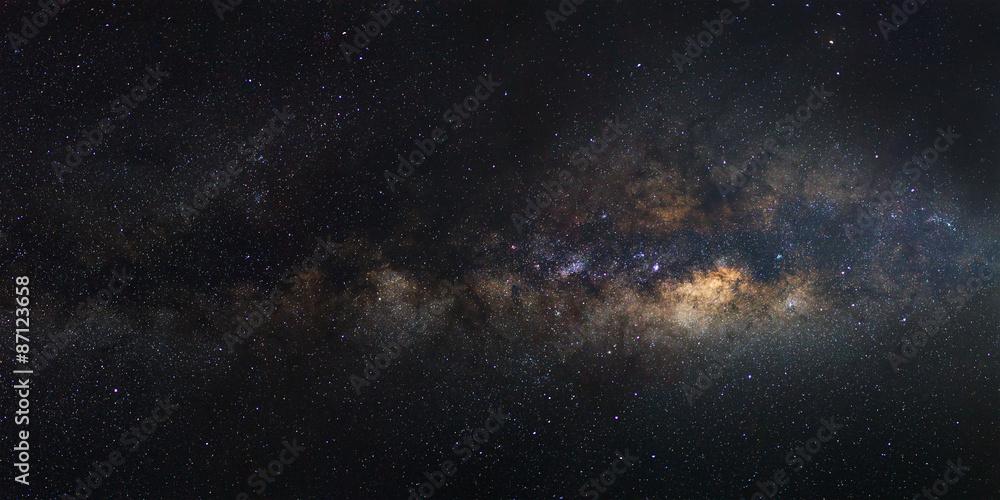 Fototapety, obrazy: Panorama Milky Way galaxy, Long exposure photograph