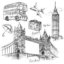 Sketch Illustration Travel Set London