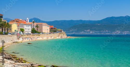 Ajaccio, Corsica island, France. Coastal cityscape Wallpaper Mural