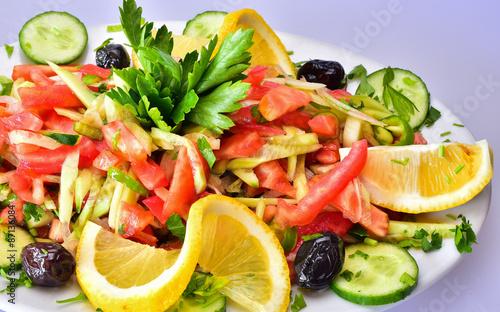 Poster de jardin Vache duble çoban salatası&salata
