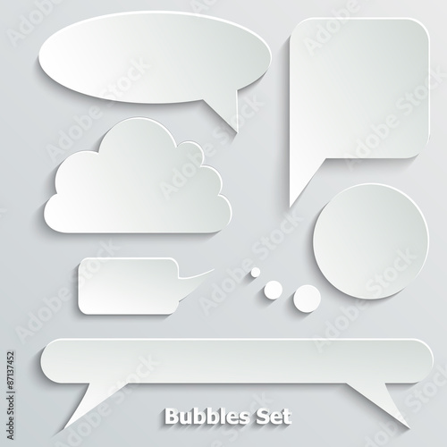 Fototapety, obrazy: Abstract Creative concept vector empty speech bubbles set. For
