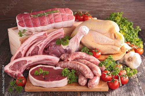 obraz dibond surowe mięso