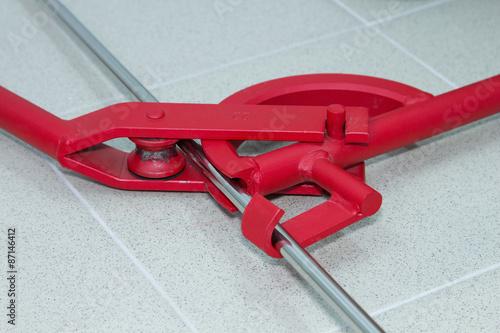 Tube bender or pipe bender tools Poster