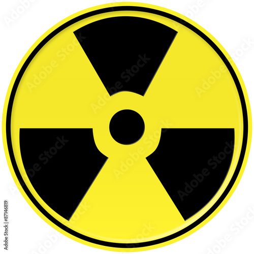 Yellow and black Nuclear icon