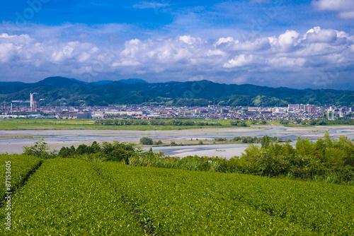 Photo Stands Beijing 大井川と島田市の町並み