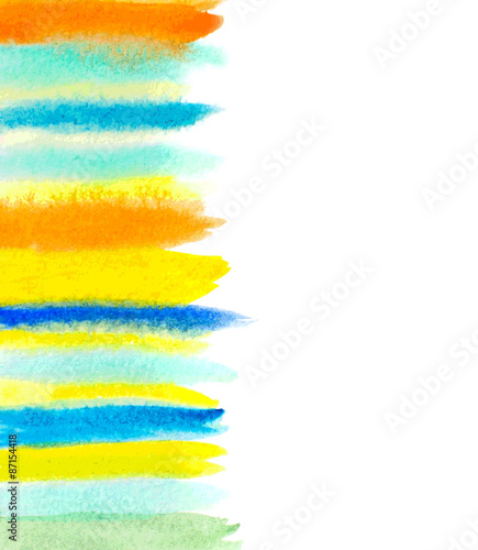 Photo  abstract hand made watercolor background with brush strokes