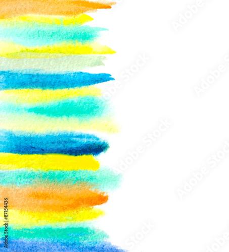 Photo  watercolor brush strokes abstract background. vector illustratio