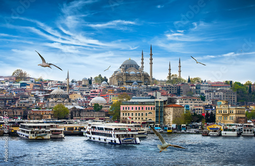 Poster Turkey Istanbul the capital of Turkey, eastern tourist city.