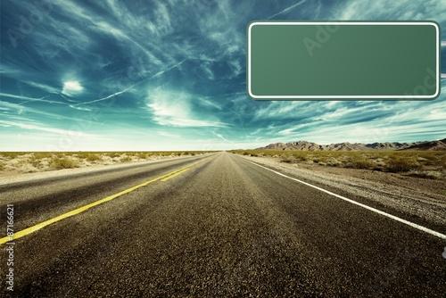 Fotografía  Road Sign, Lighting Equipment, Blank.