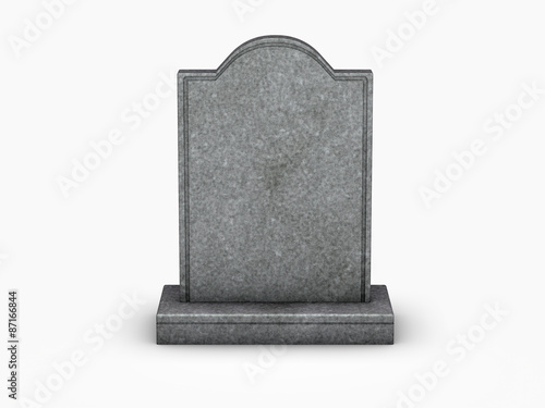 gravestone on white background Canvas Print