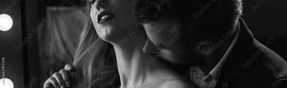 Fototapety, obrazy: Erotic atmosphere in bedroom