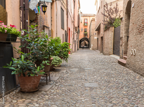 Ancient trattoria in the downtown of Ferrara city - 87172468