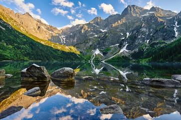 Fototapeta Popularne Morskie Oko, górski staw, Rysy