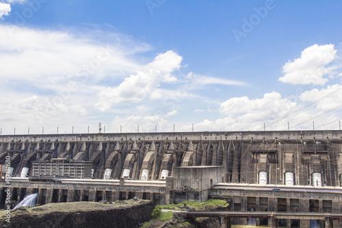 Deurstickers Dam Itaipu Dam, Foz do Iguacu, Brazil.