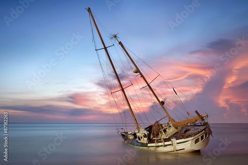 Poster Naufrage boat wreck