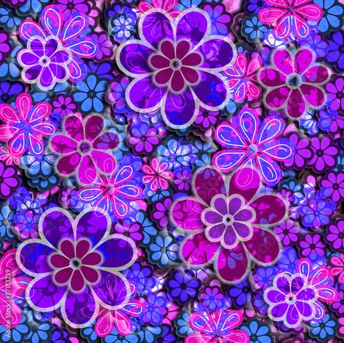 Photo  Grunge Floral Pattern