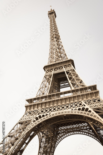 Fotografie, Obraz  Exquisite ironwork details of Eiffel tower, Paris, France