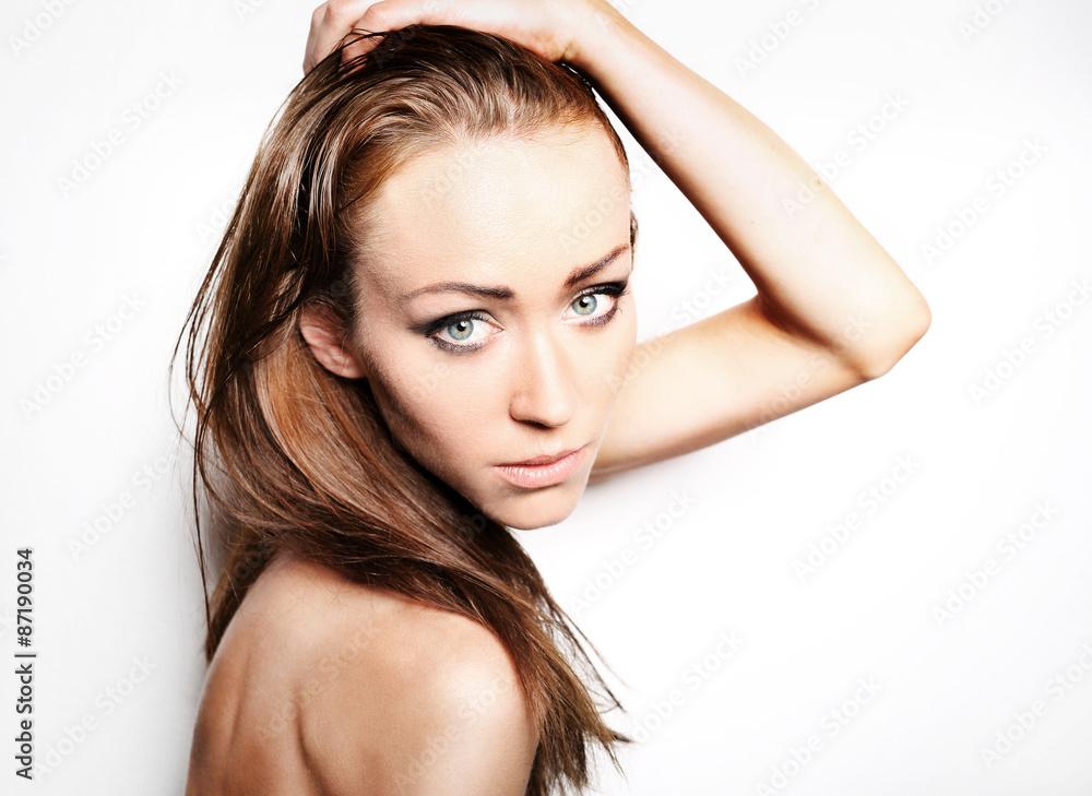 Fototapeta Piękna naturalna  kobieta