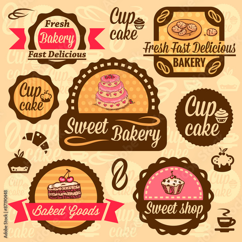 Recess Fitting Vintage Poster bakery goods labels