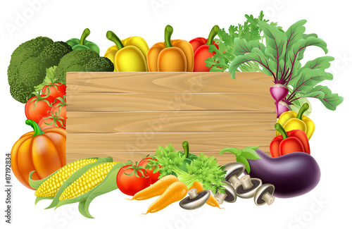 Fresh Vegetable Sign