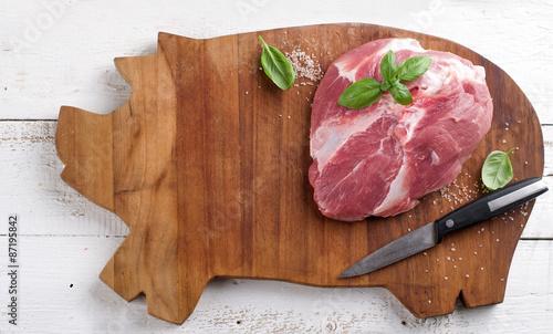 Staande foto Vlees Raw fresh meat