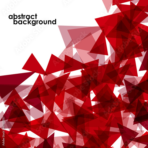 Abstract  geometric colorful background from triangles. Eps 10 #87197037