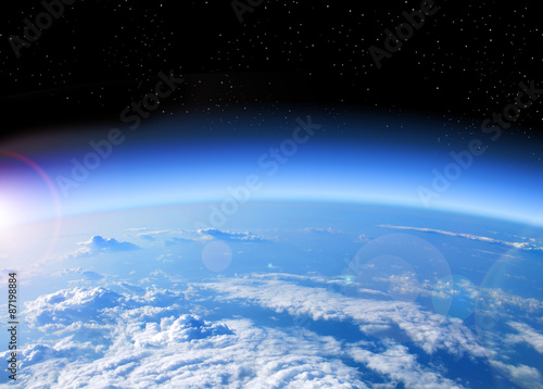 Fototapeta view of Earth from space obraz