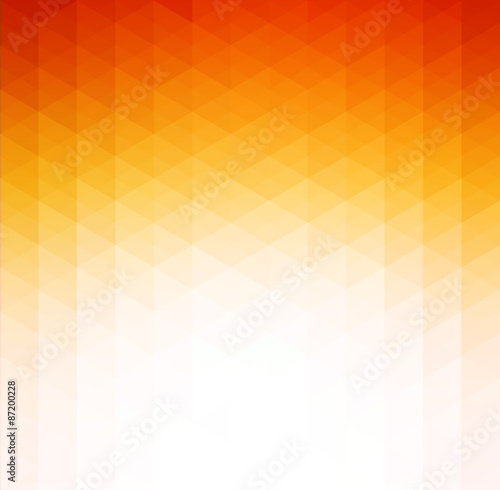 Abstract orange geometric technology background