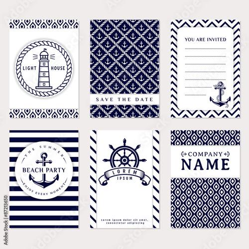 Fotografía  Sea banners. Vector card templates.