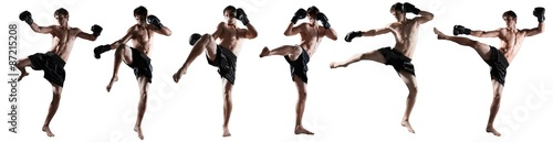 Fotografie, Tablou Kickboxing, thai, boxing.