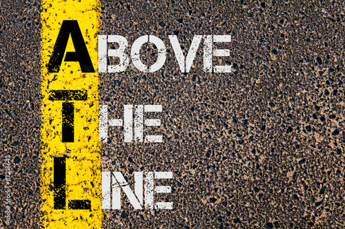 Photo Business Acronym ATL as Above The Line