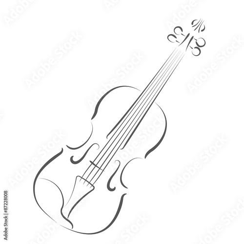 Sketched violin. Slika na platnu