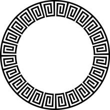 Ancient Aztec Circular Design