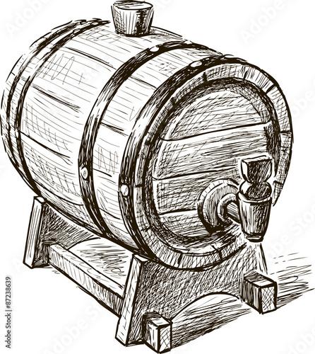 Fotomural old wine barrel