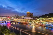 Singapore Night At Clarke Quay...