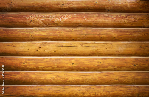 Photographie Wooden wall from logs