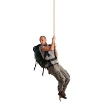 Explorer Hanging From A Rope