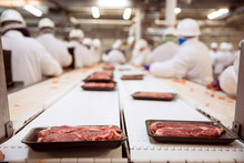 Raw Steak Beef Packaged And Sh...