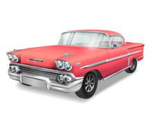Veteran Classic Red Car