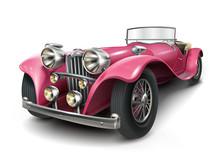 Attractive Classic Pink Car
