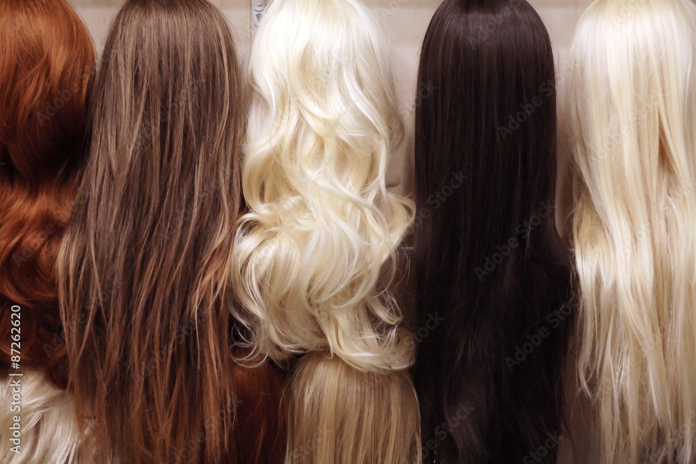 Fototapeta Wigs Set